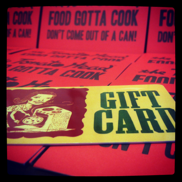 Tomato Head gift cards